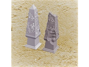 Miniature Egyptian Obelisks New and Decaying
