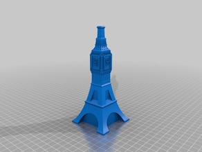 Mashumental Eiffel Tower/ Big Ben/ London Monument Hybrid