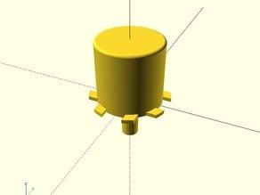 Circular Push Button cap