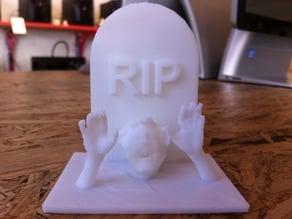 Walking Dead Tombstone RIP