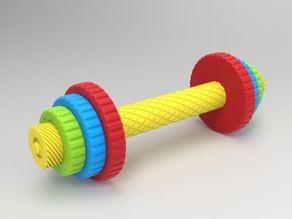 Children's toy dumbbell