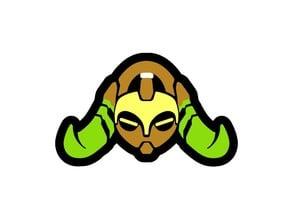 Overwatch Orisa keychain