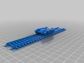 Warhammer 40K train system - 3 axl bogie