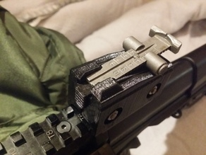 AK rear sight mount adapter for ARs