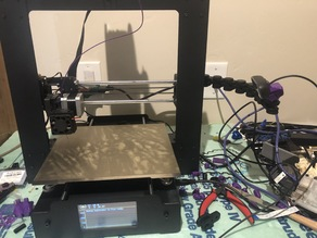 Articulating Raspberry Pi Camera Mount remix for MP Maker Select Plus