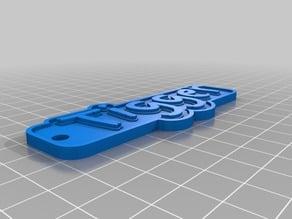 TIGGER My Customized Multiline Tag or Keychain