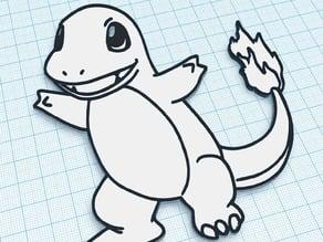 Pokemon Charmander - Easy Paint Art - For Children