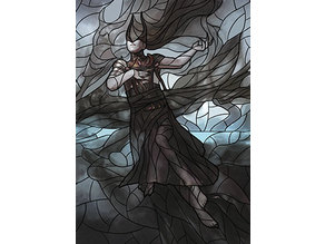 Ashiok, Dream Render - stained glass - litho
