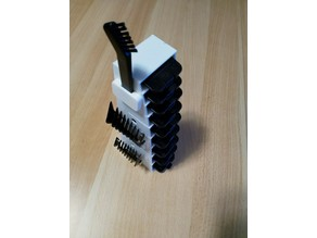 clip-on combs shelf_stackstand for Remington el.Razor equipment