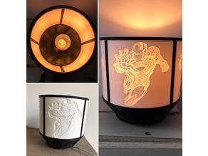 Iron Man Lithophane Lamp Shade