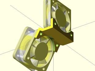 MakerGear M2 Fan Bracket for 40mm fans