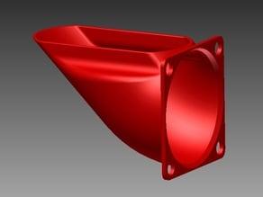 45 deg. air guide / fan duct for 30 and 40mm fan