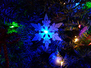 Christmas Tree Star and Snowflake Ornament