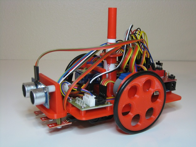 Line sensors ping mount for arduino drawing robot by