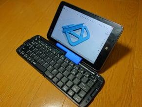 Tablet stand for RBK-3000BT foldable keyboard + Lenovo Miix 2 8/iPad mini retina