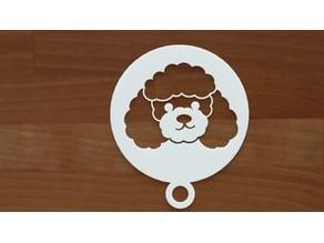 Poodle coffee stencil