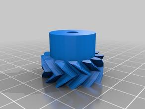 My Customized Parametric Herringbone Gear Set for Stepper Extruders small gear