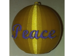 Peace Ornament IEC3D