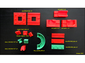 Fischertechnik marble track 3D parts