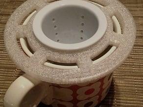 Tea steeper holder for mug
