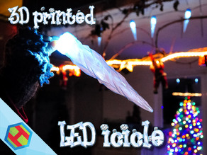 3D printed LED icicle Christmas decoration
