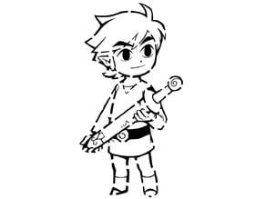 Toon Link stencil 2