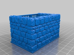 OpenForge Dungeon Stone Jail Cell 2x3