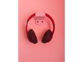 Wall mount headphone holder