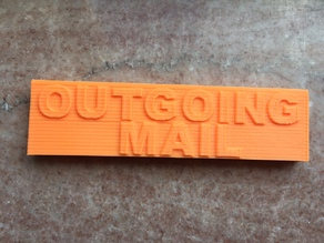 Wall Mount Mail Box OUTGOING MAIL Clip