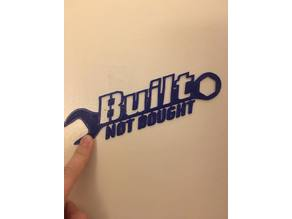 Built Not Bought Badge