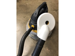 Vacuum attachment for drilling messy holes