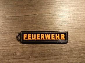 Feuerwehr Schlüsselanhänger