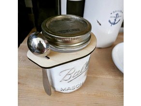 Mason Jar Spoon Caddy