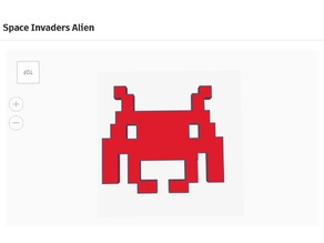 Retro Game Space Invaders Alien