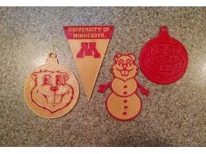 University of Minnesota Flat Ornaments