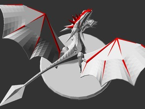 Procedural Dragon - All OPENSCAD - Parametric Version