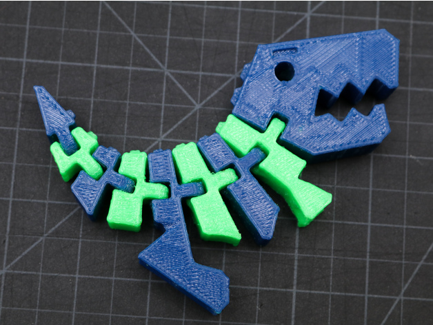 Two Color Flexi Rex Dinosaur / Dual Extrusion Print! by
