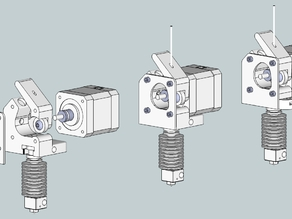 3DMON's DD Extruder for the E3D Hotend