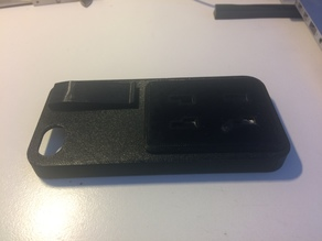 iPhone 5S case with car holder back and pocket clip