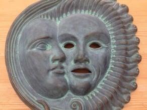 Sun Moon Mask ornament
