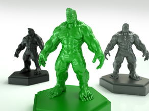 Remeshed and Decimated Hulk model from Designer X3RPM