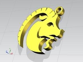 2° - Capricorno stilizzato, segno Zodiacale - stylized Capricorn, Zodiac sign