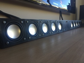 Modular 3D printable Sound Bar / Center Speaker