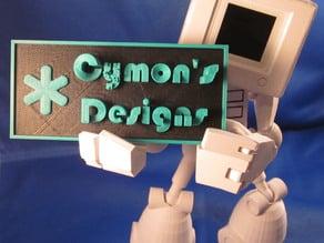 Cymon's Designs self-serving test print