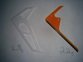 vertical tail fin for the Blade 230s