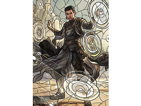 Teyo, the Shieldmage - stained glass - litho