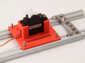 Makerbeam Servo Mount for Modelcraft RS-3