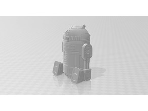 R2-D2 robot redesigned with moveable hands and leg