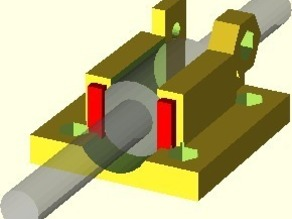 LM8UU bearing mounts for Aleph Objects (AO) X Motor