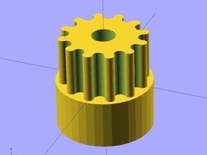 Ekobots - Gear generator cylindrical tooth